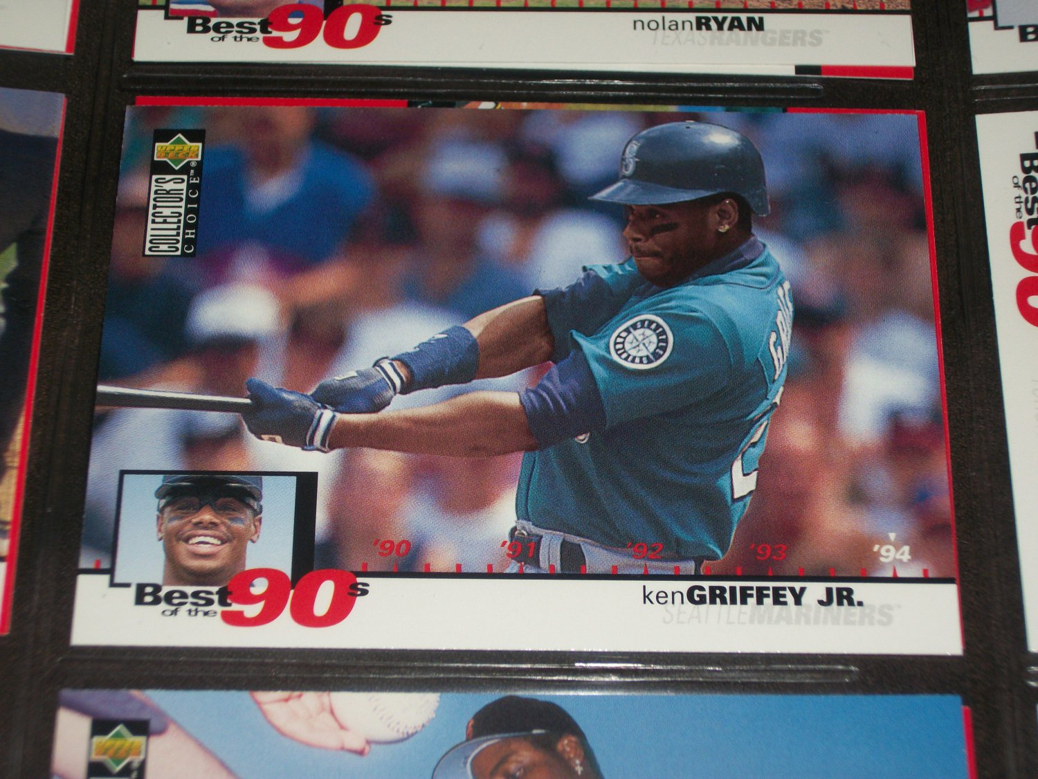Ken Griffey jr 1994 upper deck-Best of the 90's card