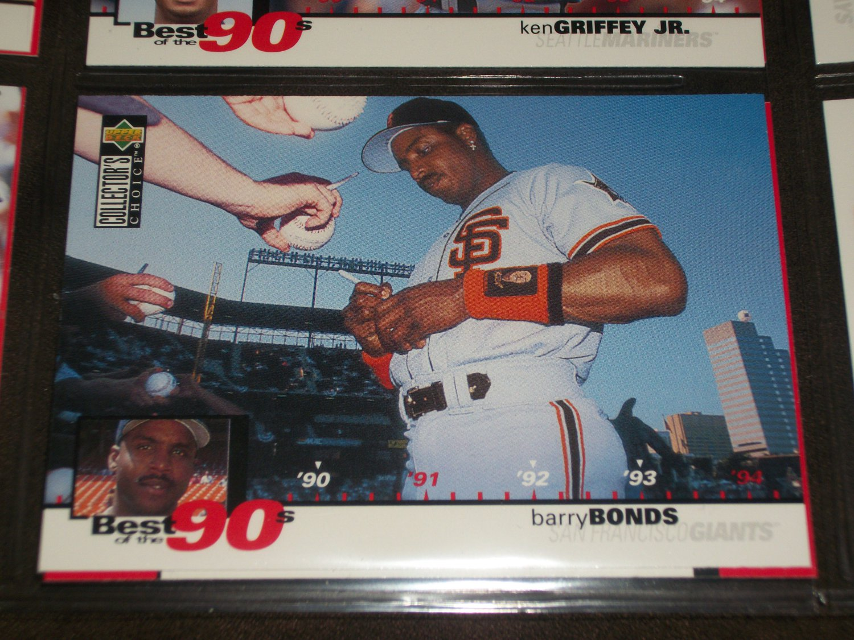 Barry Bonds 1994 Upper Deck-Best of the 90's card