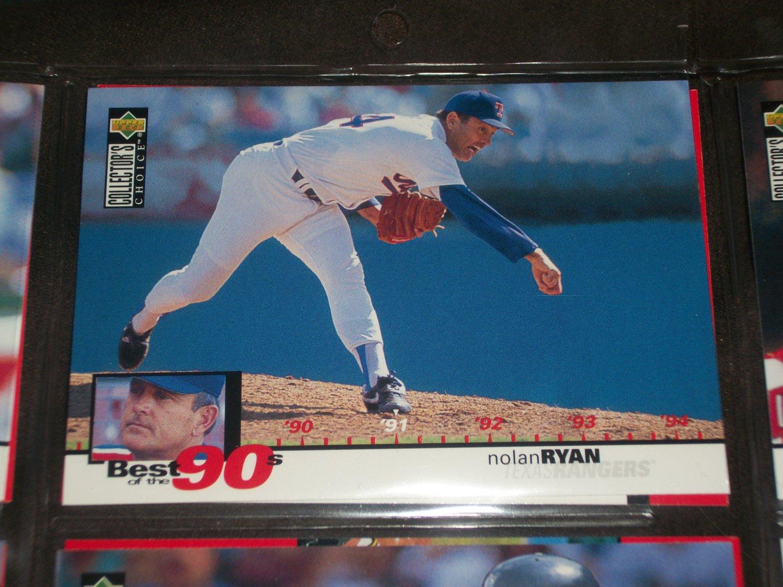 Nolan Ryan 1994 Upper Deck-Best of the 90's card