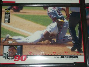 Rickey Henderson 1994 Upper Deck-Best of the 90's card