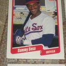 Sammy Sosa 1990 Fleer Baseball Card