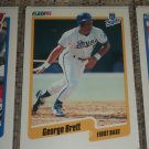 George Brett 1990 Fleer Baseball Card