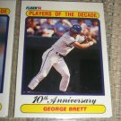 George Brett 1990 Fleer- Players of the Decade Baseball Card