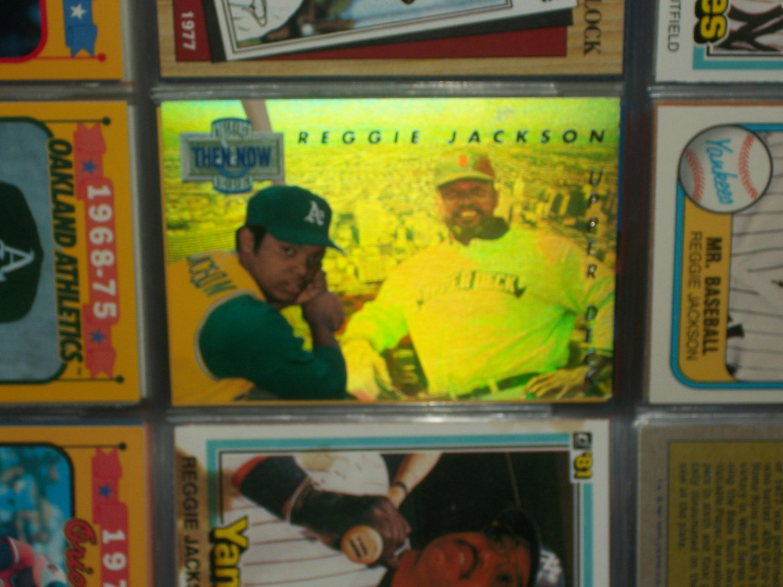 Reggie Jackson 1993 Upper Deck- Then and Now Hologram card