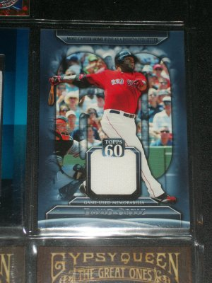 David Ortiz 2011 Topps 60 Game Used Memorabilia Card-Most Career HR as DH