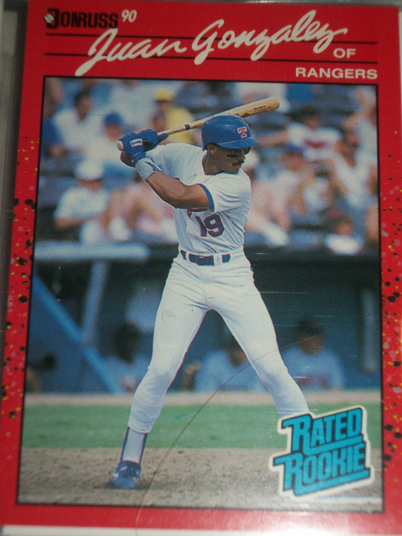 Juan Gonzalez 1990 Donruss baseball card- Rookie