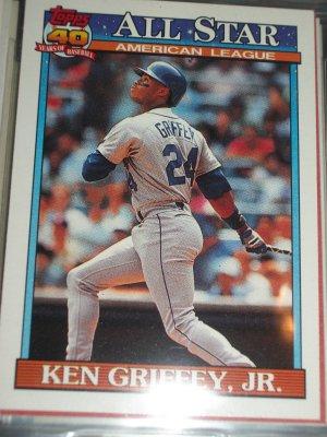 Ken Griffey Jr 1990 Topps baseball card- American League All-Star