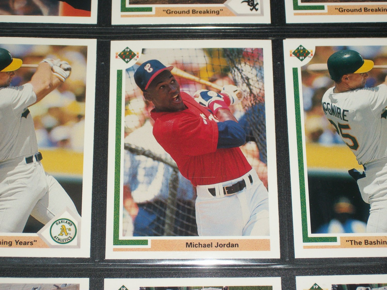 Michael Jordan 91 Upper Deck Baseball card- Rare Special Insert