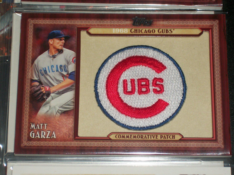 Matt Garza 2011 Topps RARE CUBS Throwback Manufactured Patch Card