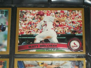 Matt Holiday 2011 Topps LE #1913/2011 card- Gold Edition
