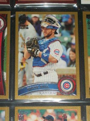 Koyie Hill 2011 Topps LE #512/2011 baseball card- Gold Edition