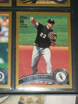 Mark Teahen 2011 Topps LE #1679/2011 baseball card- Gold Edition
