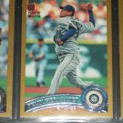 Felix Hernandez 2011 Topps LE #1910/2011 Baseball Card- Gold Edition