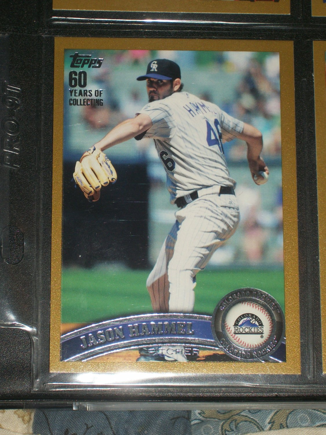 Jason Hammel 2011 Topps LE #647/2011 Baseball Card- Gold Edition