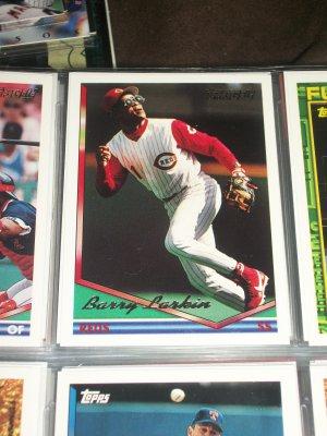 Barry Larkin 1994 Topps Baseball Card- Gold Insert