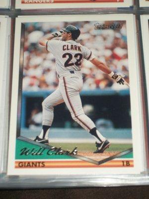 Will Clark 1994 Topps Baseball Card- Gold Insert