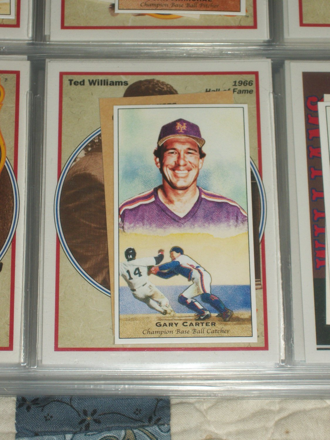 Gary Carter 2011 UD Champions of Games+Sports LE Card