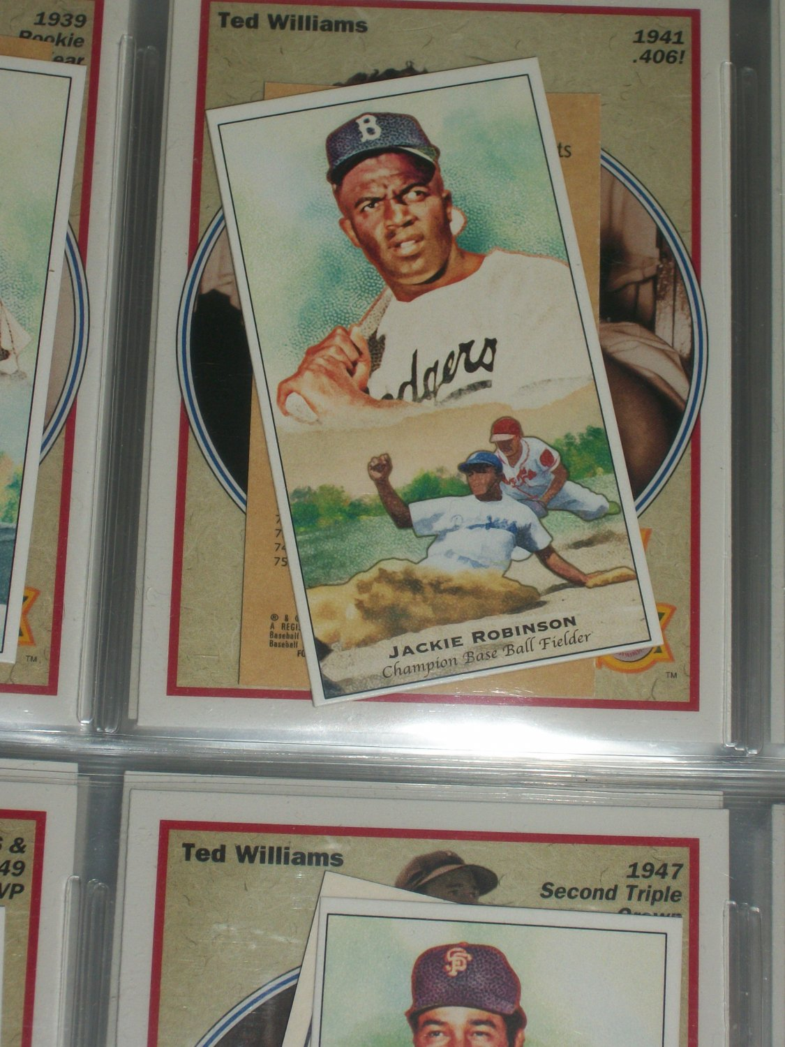 Jackie Robinson 2011 Topps Champions of Games+Sports baseball card