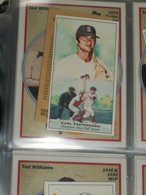 Carl Yastrzemski 2011 Topps Champions of Games+Sports Baseball Card