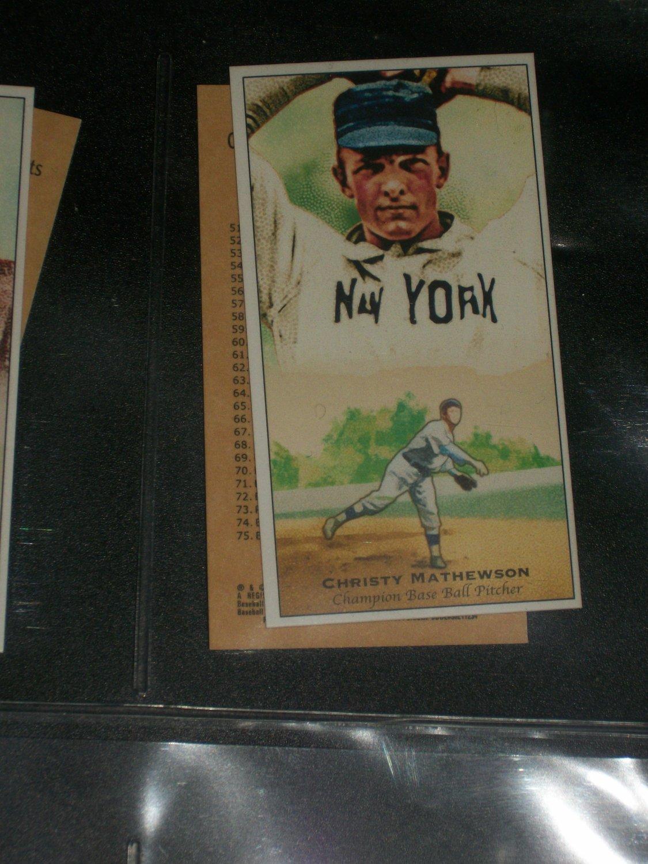 Christy Mathewson 2011 Topps Champions of Games+Sports baseball card