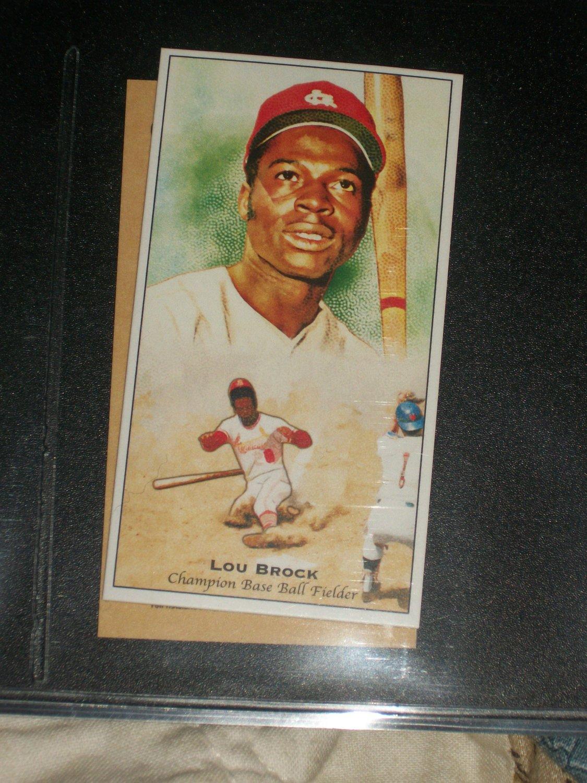 Lou Brock 2011 Topps Champions of Games+Sports baseball card