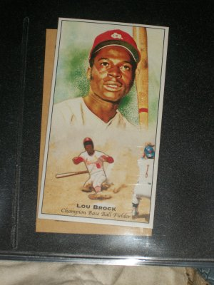 Lou Brock 2011 Topps Champions of Games+Sports baseball card