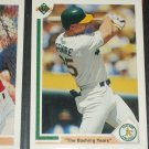 "Rare 91 UD baseball insert card- ""The Bashing Years"" #656"