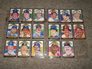 1985 Donruss Diamond Kings Complete Set #1-#26