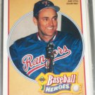 Nolan Ryan 1990 UD Baseball Heroes Insert #17/18- 1990 And Still Counting