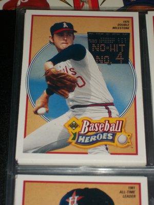 Nolan Ryan 1990 UD Baseball Heroes Insert #12/18- 1975 Double Milestone