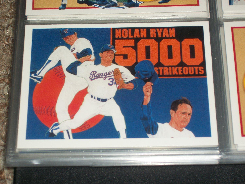 Nolan Ryan 1990 UD Baseball card- RARE 5000TH STRIKEOUT INSERT CARD