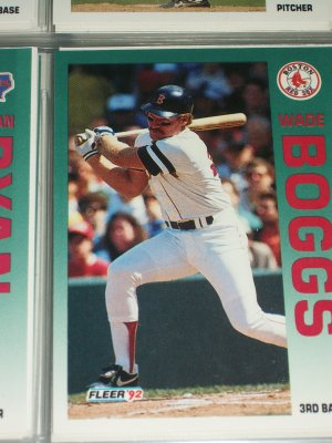 Wade Boggs 92 Fleer Baseball card