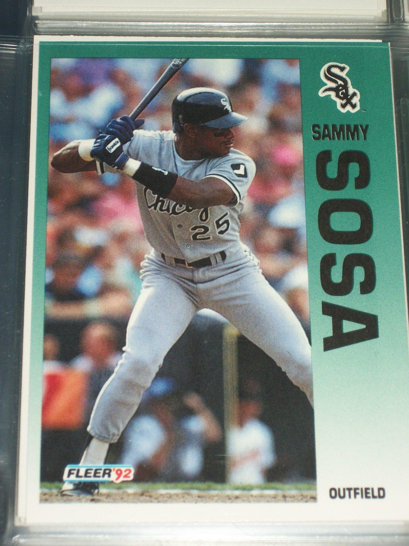 Sammy Sosa 92 Fleer baseball card