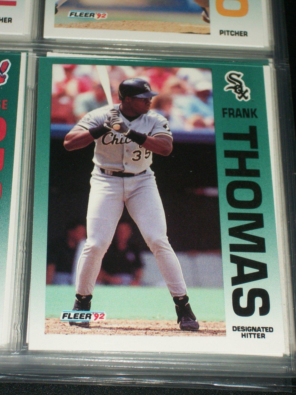 Frank Thomas 92 Fleer baseball card