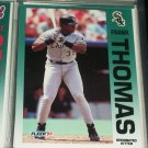 Frank Thomas 92 Fleer baseball card
