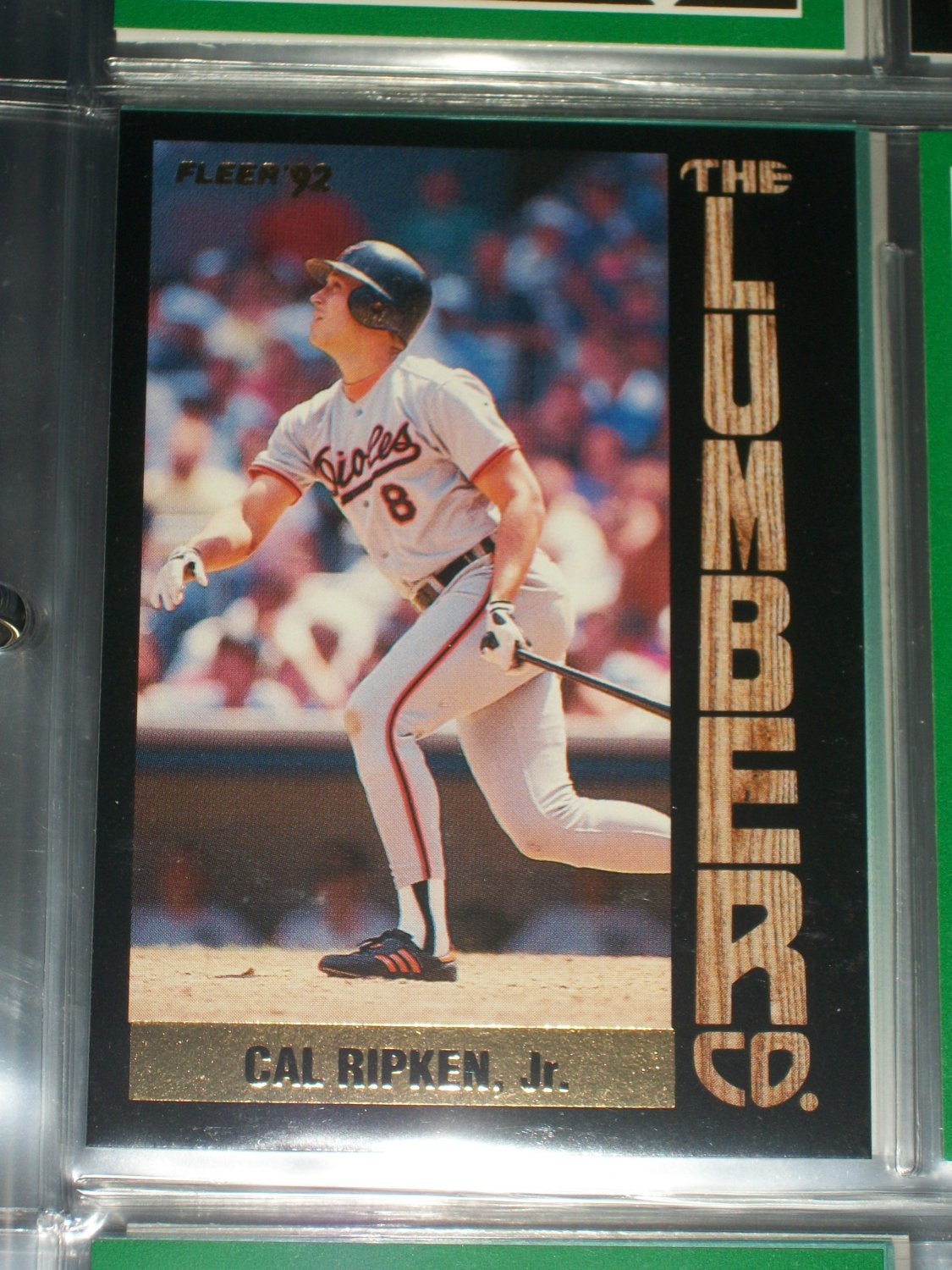 "Cal Ripken jr 92 Fleer ""The Lumber Co"" rare insert baseball card"