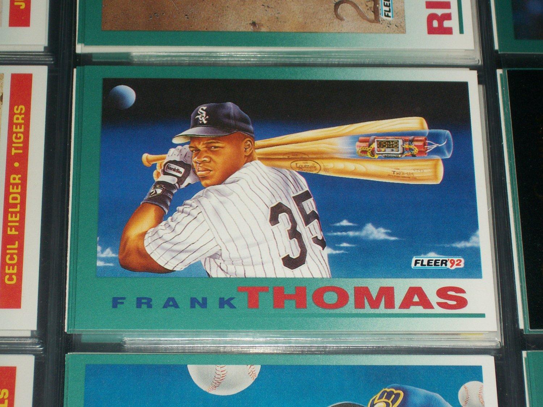 "Frank Thomas 92 Fleer rare ""Time Bomb"" baseball card"