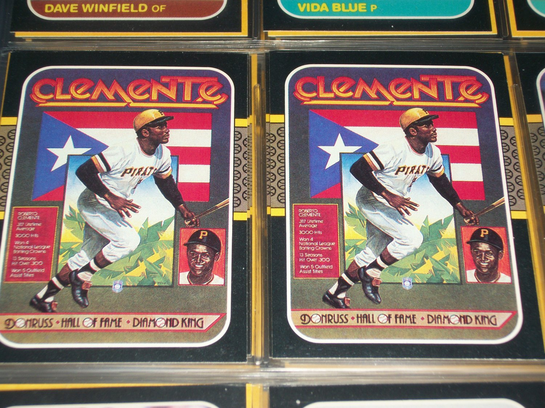 "Roberto Clemente rare 87 Donruss ""Hall of Fame Diamond King"" baseball card"