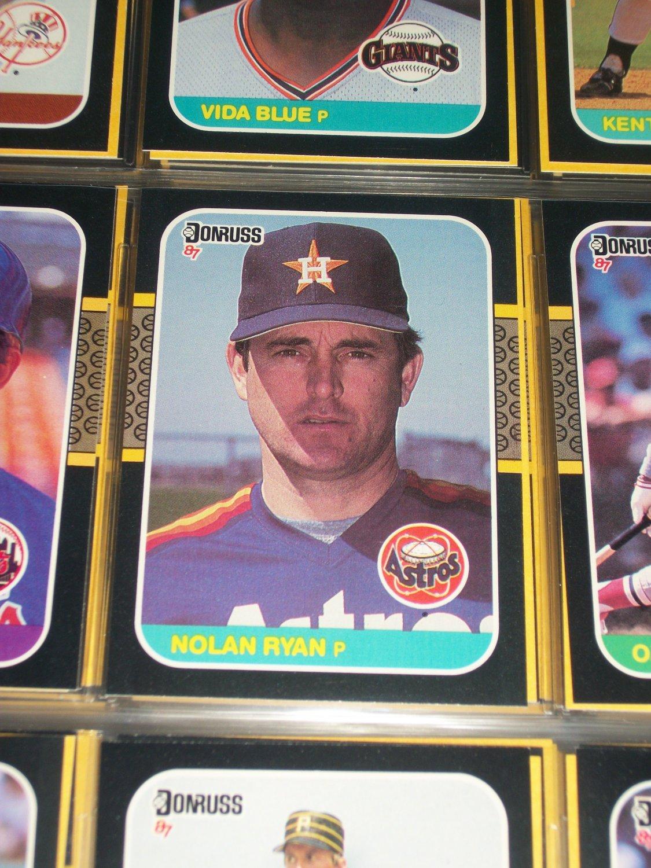 Nolan Ryan 87 Donruss baseball card