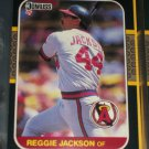 Reggie Jackson 87 Donruss baseball card