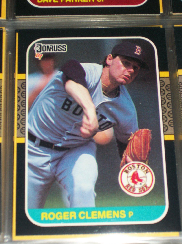 Roger Clemens 87 Donruss baseball card