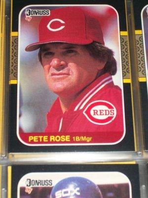 Pete Rose 87 Donruss baseball card
