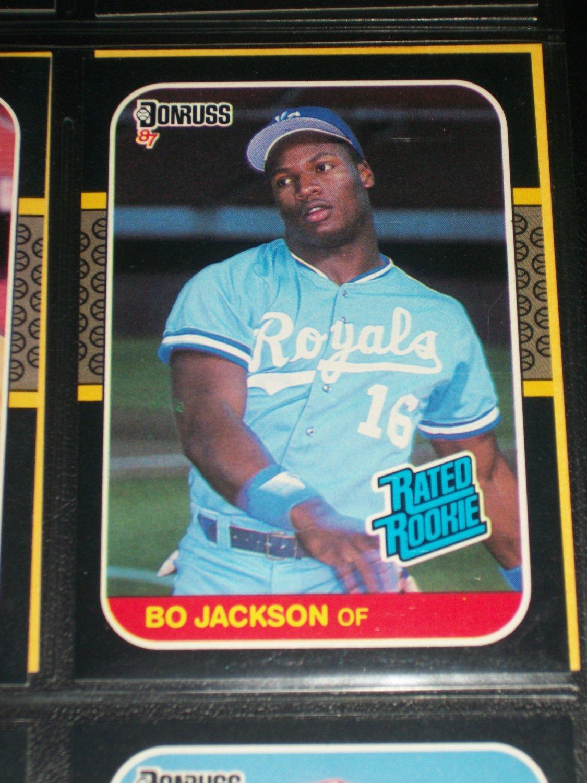 Bo Jackson 87 Donruss RATED ROOKIE BASEBALL CARD