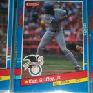 Ken Griffey jr 91 Donruss American League All-Star baseball card