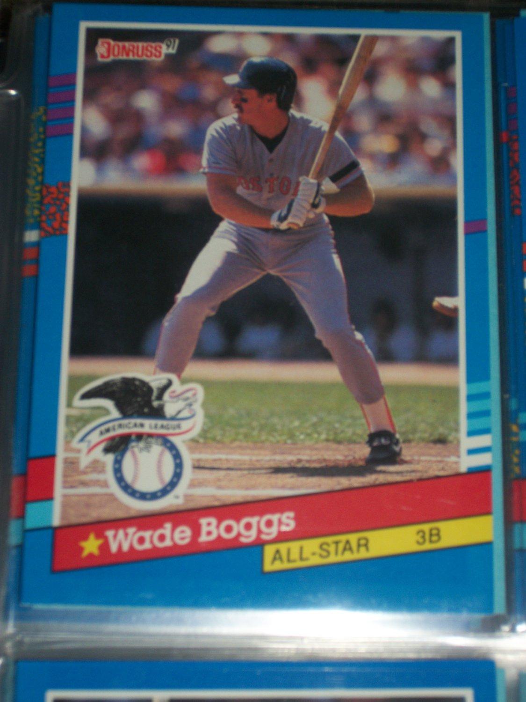 Wade Boggs 91 Donruss American League All Star Baseball Card