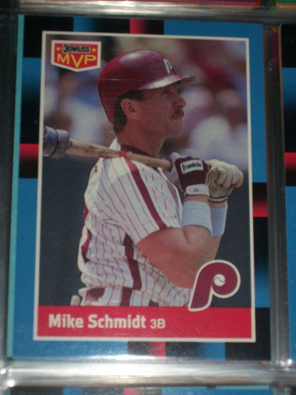 Mike Schmidt 88 Donruss MVP baseball card