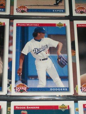 Pedro Martinez Upper Deck 1992- Star Rookie baseball card