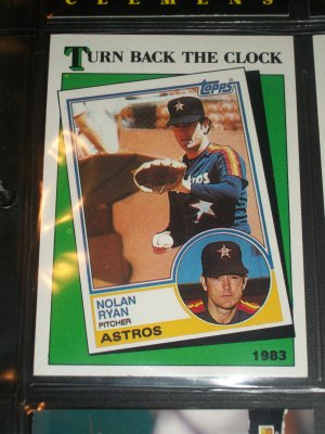 "Nolan Ryan 1988 Topps baseball card- RARE ""Turn Back the Clock"""