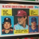 Nolan Ryan/Seaver/Carlton 1984 Topps NL active strikeout leaders