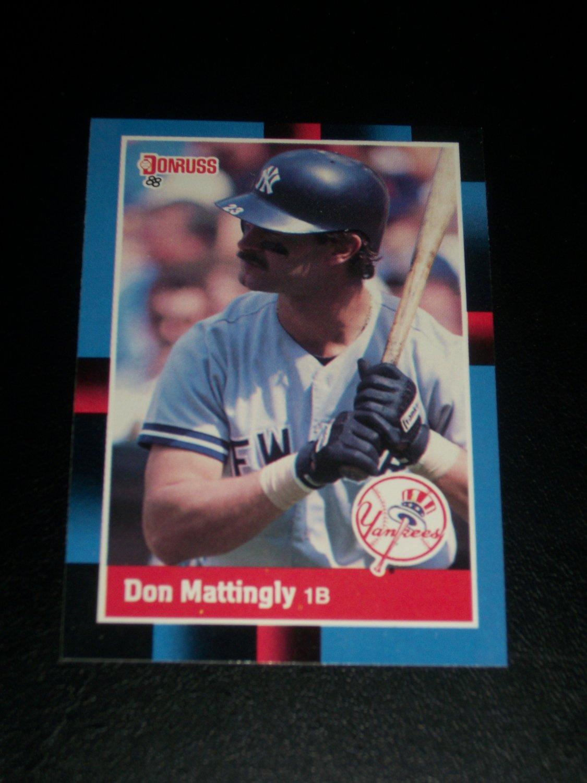 Don Mattingly 1988 Donruss baseball card